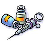 HCG Injections Syringe and Vials